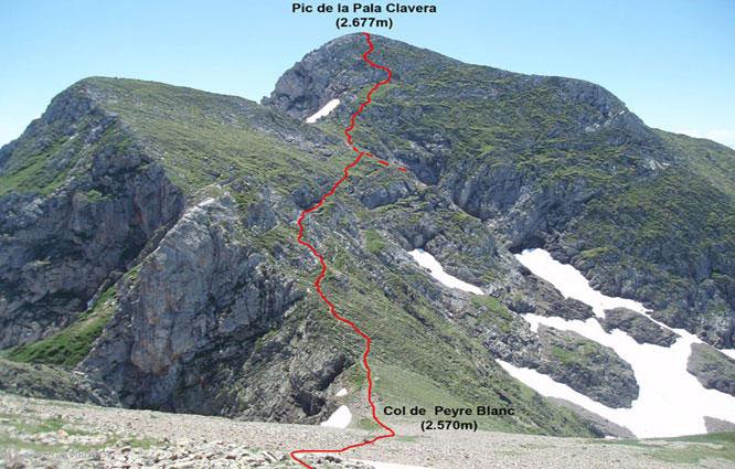 Mont Valier (2.838m) i pic de la Pala Clavera (2.721m) 1