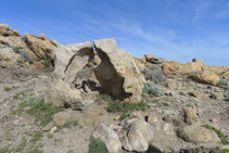 Curiosa formació rocosa.