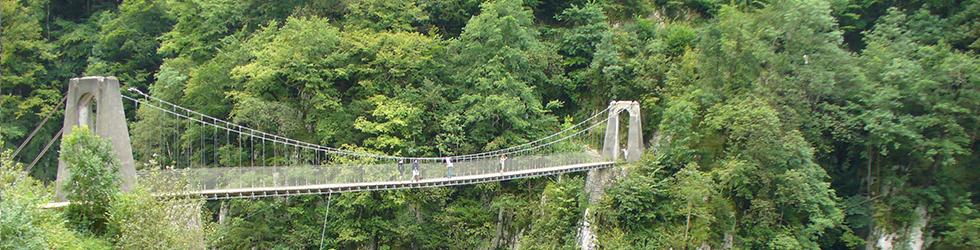 La passarel·la d�Holzarté i les gorges d�Olhadubi