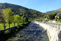 El riu Garona al seu pas per Vielha.