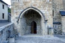 Portalada gòtica de Sant Martin de Tours.