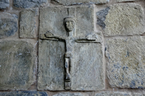 Crist romànic a l´església de Gausac.