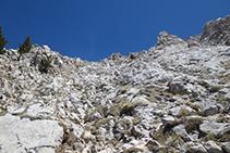 Tram de grimpada cap al Cap de la Canal Roja.
