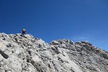 A pocs metres del cim del Pedraforca.