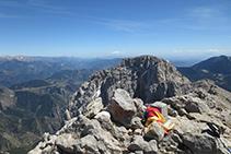 Cim del Pedraforca, a 2.506m d´altitud.