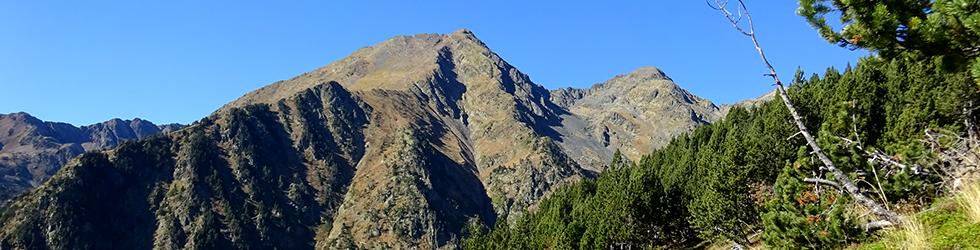 Pic de Comapedrosa (2.942m) des d´Arinsal
