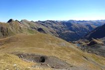 Panoràmica de la capçalera de la vall de Ransol, des de la collada dels Meners.