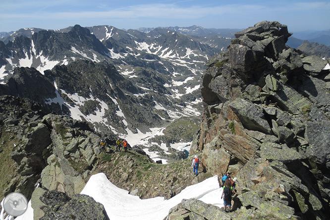 Pic de Rulhe (2.783m) des del Pla de les Peires 2