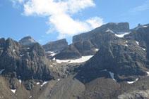 El Casco, Bretxa de Rotllan, la Punta Bazillac i El Dedo.