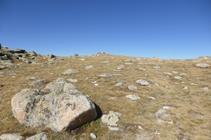 Arribant al cim del pic de Montmalús.