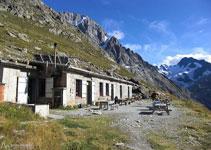 Refugi de Temple Écrins, situat a 2.410m d´altitud.