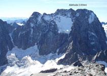 El pic Ailefroide (3.954m) i la glacera Noir.