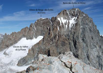 Barre des Écrins (4.102m) i Dôme de Neige des Écrins (4.015m).