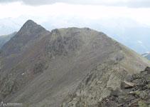 Continuem el nostre recorregut per la Serra del Cap de la Coma a la recerca del pic d´Arcalís.