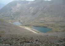 Vista dels tres estanys d´Angonella.