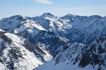 Vistes del Carlit, la muntanya amb més altitud de la zona de l´Alta Cerdanya.