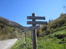 Iniciem la ruta a la mateixa carretera N-20 a les afores de l´Ospitalet.