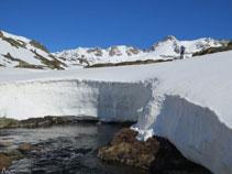 Durant l´hivern la neu és molt abundant en aquesta zona.