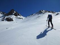 De izquierda a derecha: el pico de Regalecio, la Portella de Siscar, la cota 2.594m y el pico de Nérassol detrás.