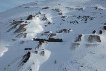 Instal·lacions abandonades de les antigues mines de Pimorent.