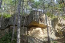 Curiós aflorament de roques argiloses.