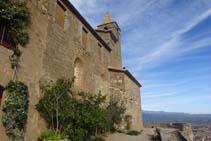 La façana meridional del Castellvell.