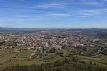 Des del castell les vistes de la vila de Solsona són magnífiques.