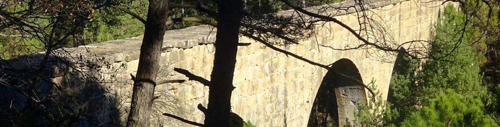 El pont de l�Afrau i el Castellvell de Solsona