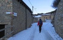 A l´hivern, aquest poble de la cara nord del Cadí, és un dels més freds.