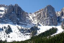 Roca Verda, canal del Cristall i roca de l´Ordiguer.