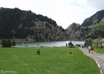 El llac artificial de la Vall de Núria.