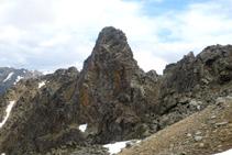 Roc Colom (2.724m) a la vall de Campcardós, per molts la muntanya més feréstega de la Cerdanya.