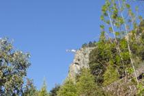 Helicòpter treballant al Roc dels Corbs.
