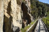 Roques de granodiorita al costat del camí.