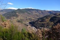 Ribes de Freser pujant pel camí de Sant Antoni.