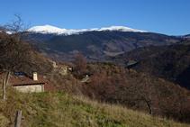 El Balandrau i la serra de la Canya.