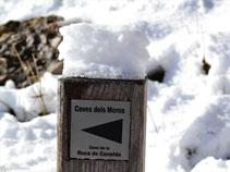 Senyal indicant-nos que hem arribat a les Coves dels Moros