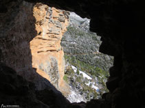 Interior de la cova