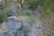 Una fita de pedres i el camí.