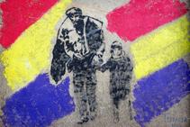 Mural d´homenatge als exiliats a les parets de Mina Canta.