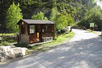 Caseta d´informació del Parc Nacional a la Palanca de la Molina.