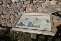 Panell amb explicacions de la ruta i de l´església de San Martín.