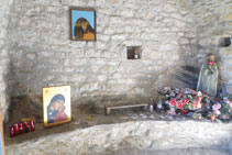 Interior de l´ermita dels Sants Juan i Pablo.