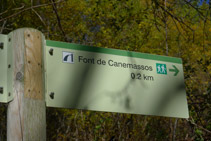 Trencall de la font de Canemassos.