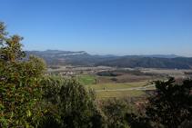 Vistes a la vall des de la pedrera de Colldegria.
