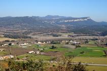 Vistes al pla del Pasteral des de Colldegria.