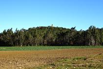 El castell de Sant Iscle des de Can Gener.