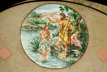 Detall de l´església de Sant Joan Baptista.