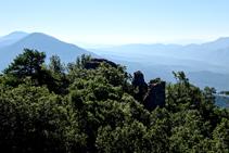 Extenses vistes des del castell de Roset.