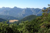 La serra de Picancel i la vall de Vilada.